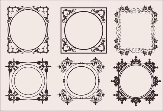 border templates elegant classical european symmetric decor