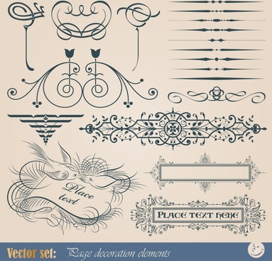 wedding card decorative elements artistic classical elegant sketch