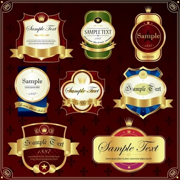 premier labels templates colorful luxury royal decor
