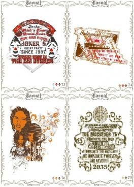 classic europeanstyle nostalgia posters 05 vector