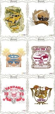 classic europeanstyle nostalgia posters 13 vector