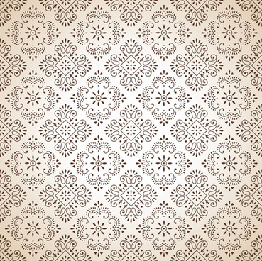classic floral background vector