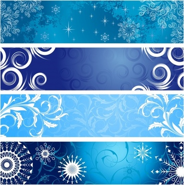 classic floral banner vector
