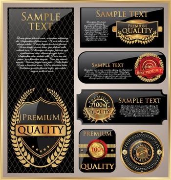 classic gold label 01 vector