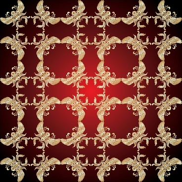 decorative pattern elegant royal decor repeating symmetric design