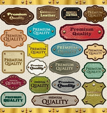 classic label stickers 02 vector