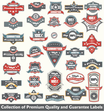 classic label stickers free vector