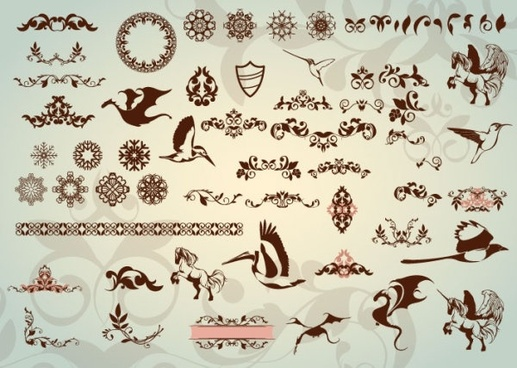 classic lace pattern 03 vector