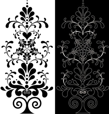 classic lace pattern 06 vector