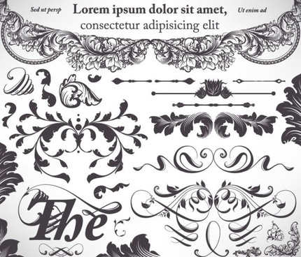 classic lace pattern 10 vector