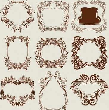 frame templates classical elegant seamless symmetrical decor