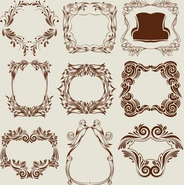 frame templates classical elegant seamless symmetrical decor