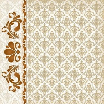 decorative pattern elegant retro symmetric repeating shapes