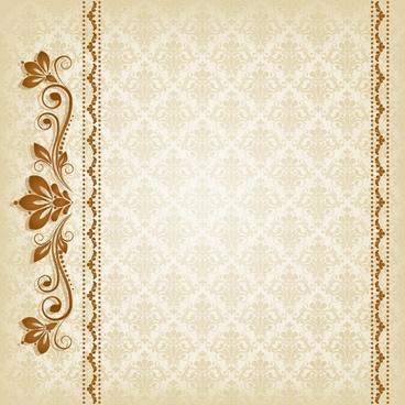 decorative pattern template elegant european symmetric repeating design