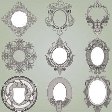 decorative frames templates elegant vintage european decor