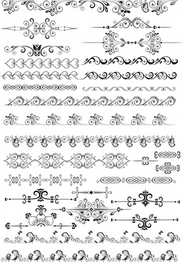 document design elements classical symmetric seamless curves