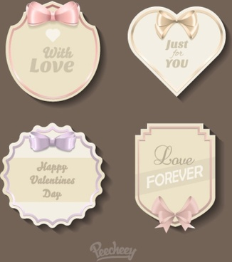 classic love stickers for the valentines day