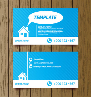 Modern business card design eps free vector download 183981 free classic modern business cards vector reheart