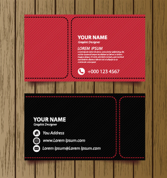 classic modern business cards vector