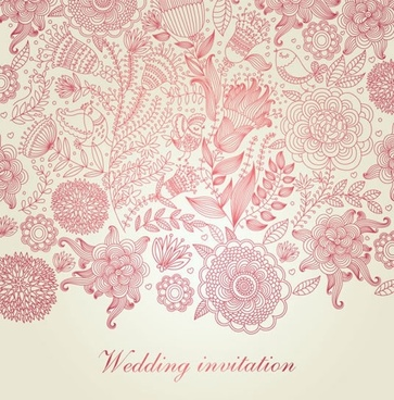 wedding card background classic elegant blossom flowers decor