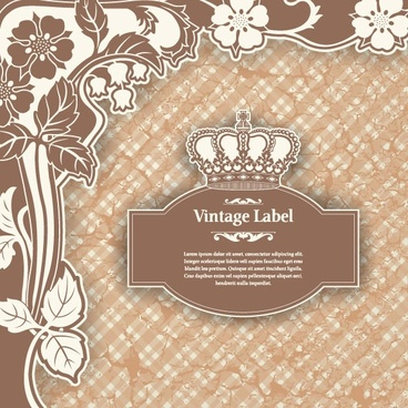 classic pattern label 01 vector