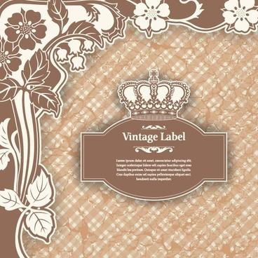classic pattern label 01 vector