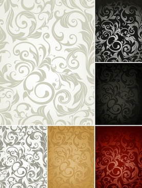 pattern templates classical elegant curves decor