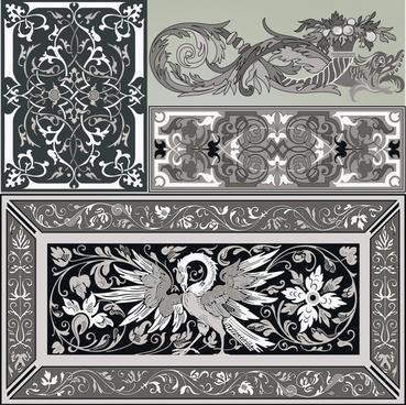 decorative templates elegant retro oriental design