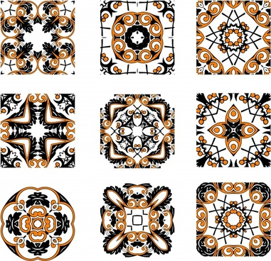 decorative pattern templates classical symmetrical decor
