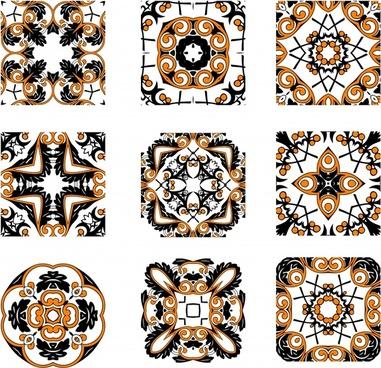 decorative pattern templates classical symmetrical decor