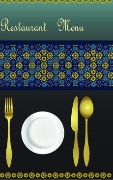 classic restaurant menu covers design elements vector