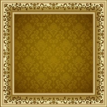 photo frame template elegant golden classical symmetric decor