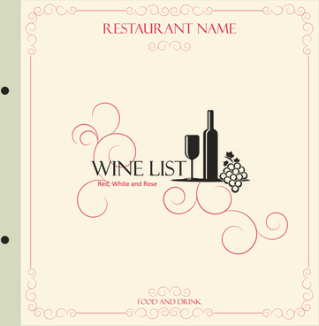 classic retro restaurant menu cover vector