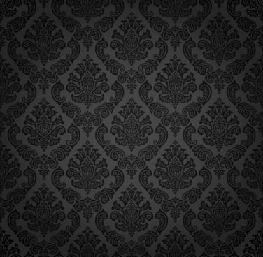 decorative pattern dark retro symmetrical decor