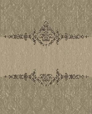 decorative pattern elegant dark grey retro design