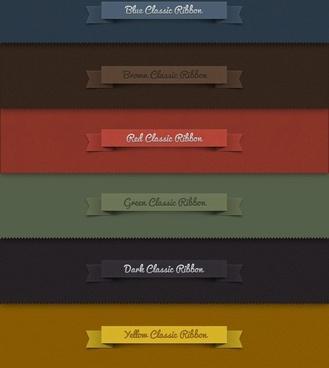 classic ribbon psd layered