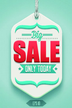 classic sale tag vector