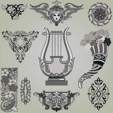 classic traditional pattern 01 vector
