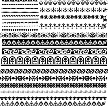classic traditional pattern lace 03 vector