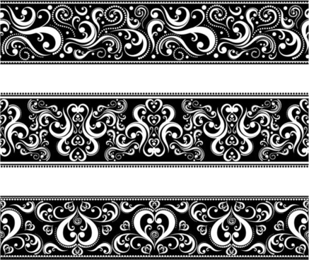 classic traditional pattern lace 04 vector