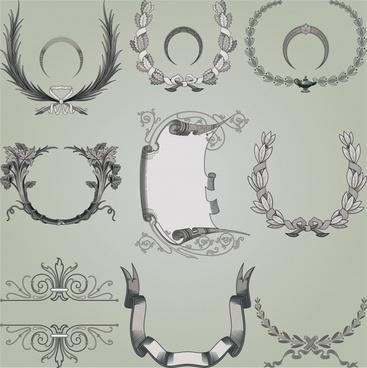 certificate decor templates retro elegant european symmetric shapes