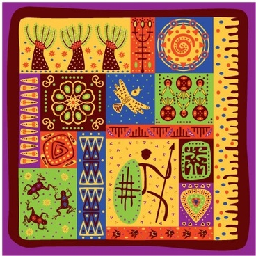 tribal pattern colorful flat classic handdrawn elements