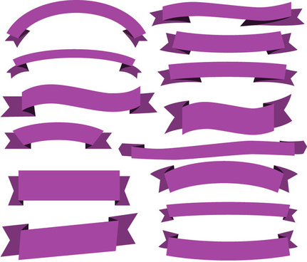 classic violet ribbon banner collection