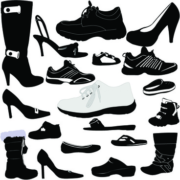 classic woman shoes design vectors
