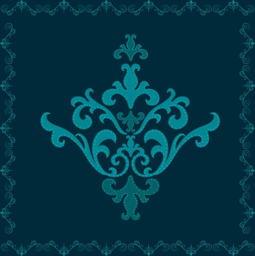 classical border template dark blue design seamless style