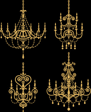 Classical Chandelier Design Vectors