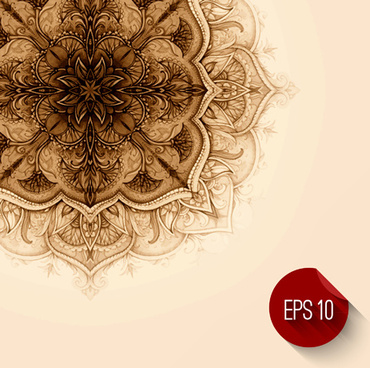 classical decorative floral background vector