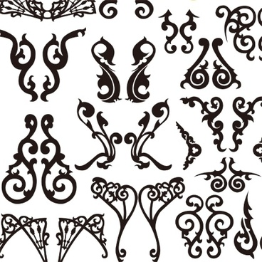 Classical Decorative Patterns Free Vector Graphics