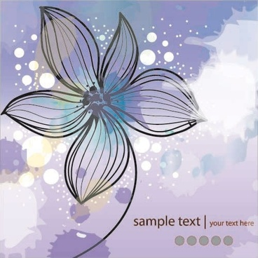 classical floral pattern flower vector