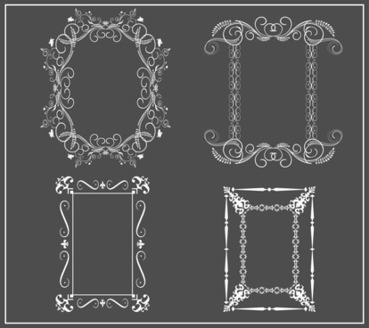 classical frames collection in black and white design
